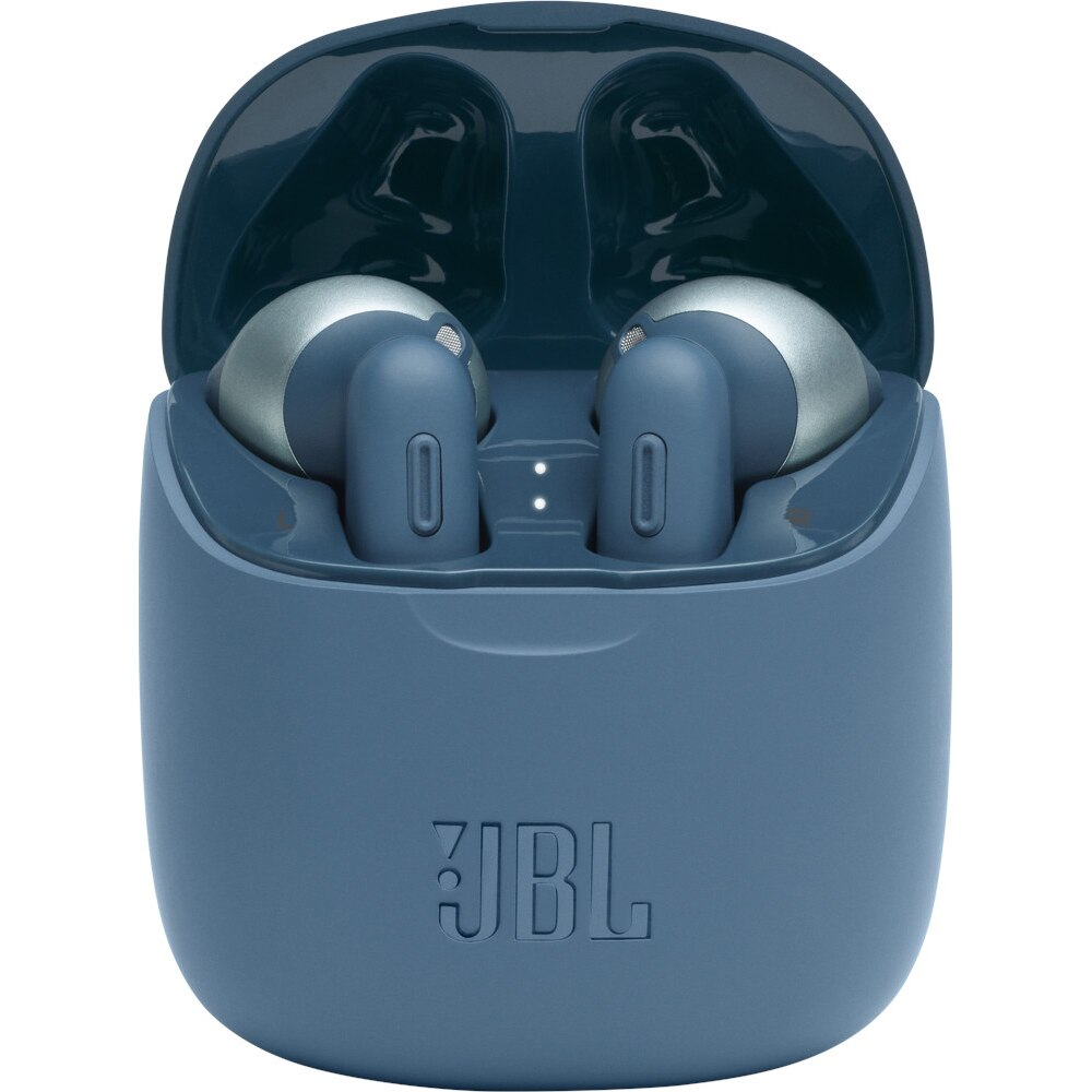 Fotografie Casti Audio In Ear JBL Tune 225, True Wireless, Bluetooth, Autonomie 25 ore, Albastru