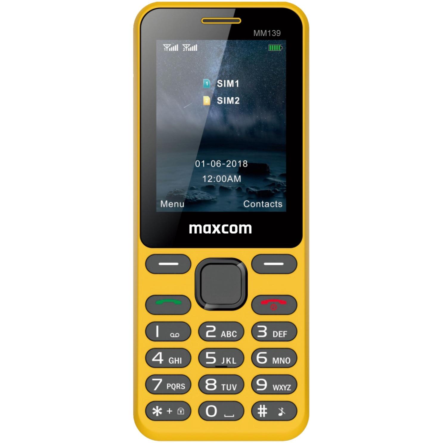 Fotografie Telefon mobil MaxCom MM139, Dual SIM, Yellow