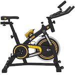 Bicicleta fitness pentru spinning, PROGRESSIVE SX2000, Greutate maxima utilizator 120 kg, Bluetooth, Calcul calorii, timp, distanta, puls, Greutate sistem volanta 15 kg, culoare negru-galben