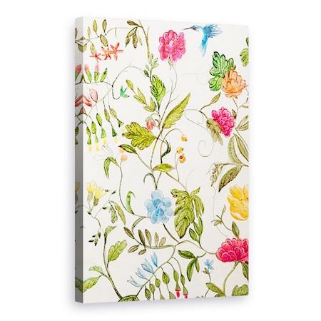 Virágok, Természet, Növények, Virágok, Állatok, Kolibri, Festmény, Vászonkép, 60 x 90 cm