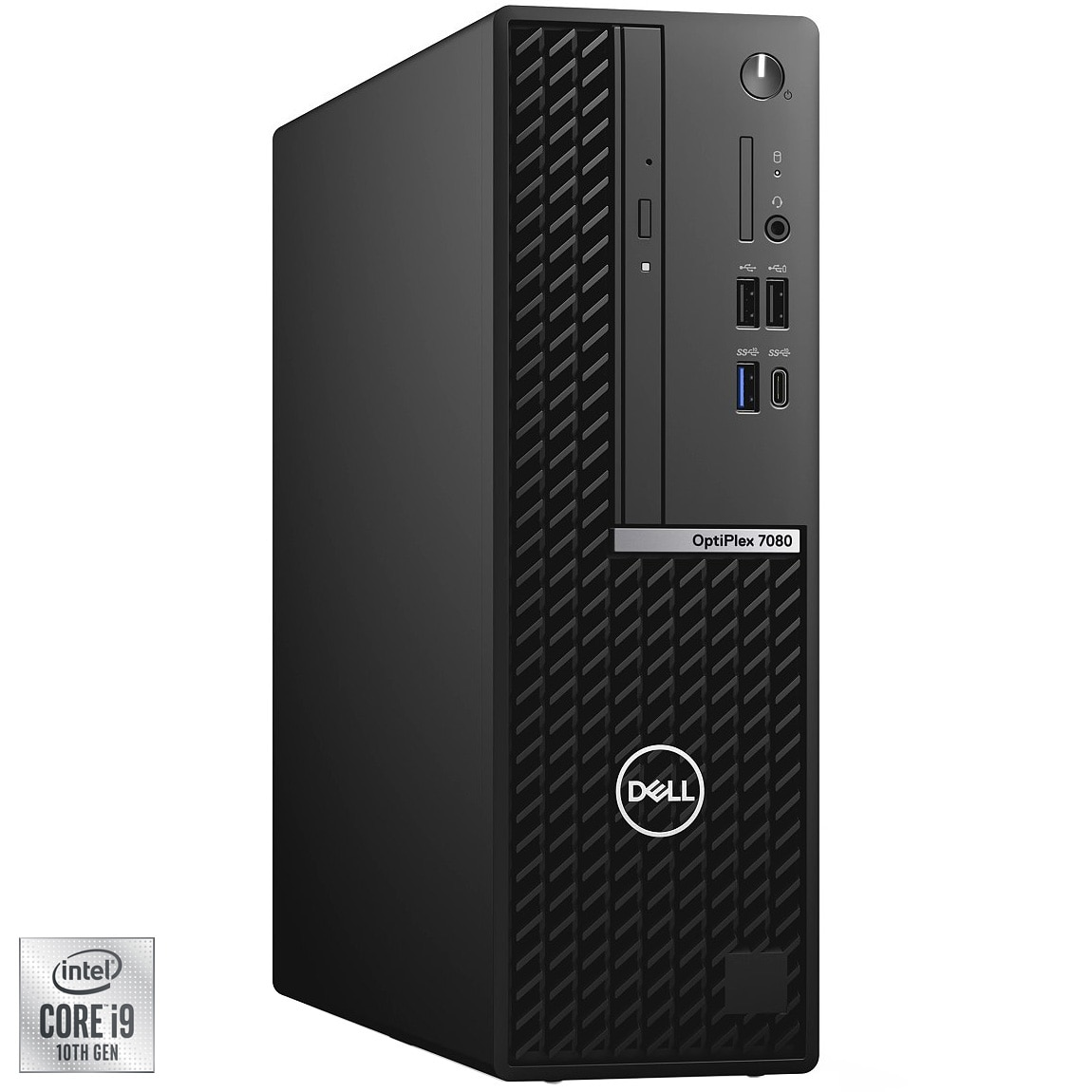 Fotografie Sistem Desktop Dell OptiPlex 7080 SFF cu procesor Intel® Core™ i9-10900 pana la 5.20 GHz, Comet Lake, 32GB DDR4, 512GB SSD, Intel® UHD Graphics 630, Windows 10 Pro