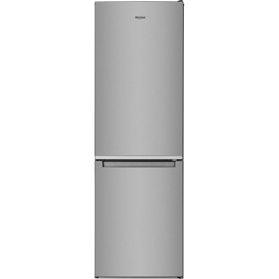 Fotografie Combina frigorifica Whirlpool W5 921E OX, 372L, Clasa E, 6th Sense, H 201 cm, Inox