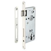 Bejárati ajtó zár, süllyesztve, 50 x 90 mm, europrofil hengerhez, horganyzott - alkalmas fa ajtókhoz.