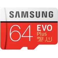 Samsung 64GB SD micro EVO Plus (SDXC Class10) (MB-MC64HA/EU) memória kártya adapterrel