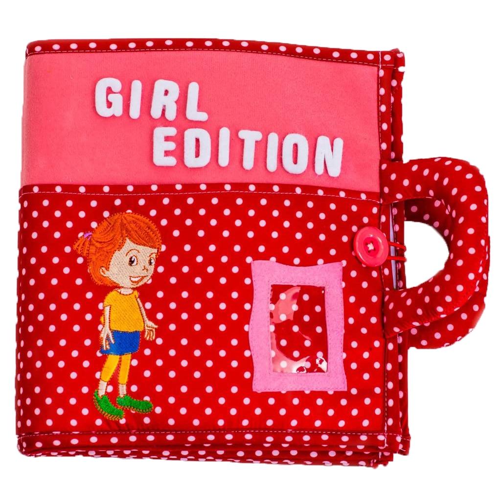 Fotografie Carticica cu activitati Piqipi - Quiet book, Girl Edition