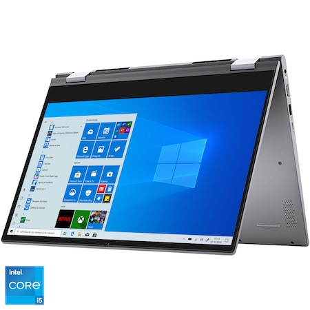 "Лаптоп 2 in 1 Dell Inspiron 14 5406, Intel® Core™ i7-1165G7, 14"" Full HD, RAM 16GB, 512GB SSD, NVIDIA® GeForce® MX350 2GB, Windows 10 Home, Platinum Silver"