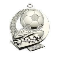 Спортен медал TRYUMF, Модел футбол, За 2-ро място, Размер 43x50 см, Сребрист