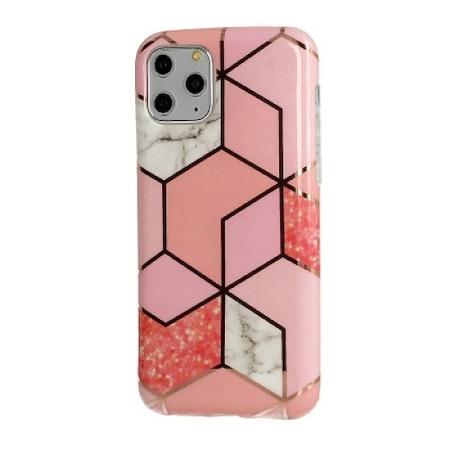 Telone Cosmo Marble szilikon tok Samsung A105 Galaxy A10, M105 Galaxy M10-hez pink