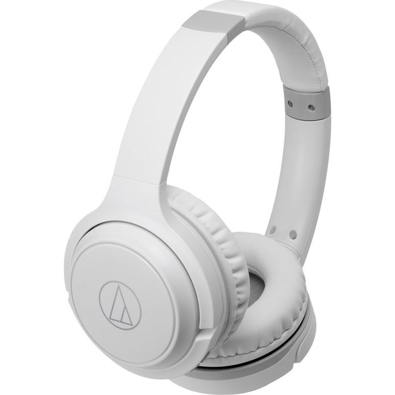 Fotografie Casti Audio On Ear Audio Technica ATHS200BT, Wireless, Bluetooth, Microfon, Autonomie 40 ore, Alb