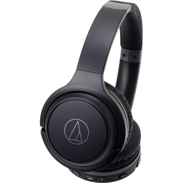 Fotografie Casti Audio On Ear Audio Technica ATHS-200BTBK, Wireless, Bluetooth, Microfon, Autonomie 40 ore, Negru
