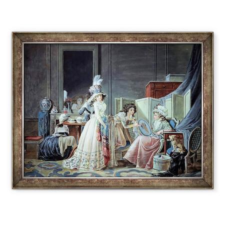 Jean Baptiste Mallet - A hímzett Ámupi, Keretezett kép, 60 x 80 cm