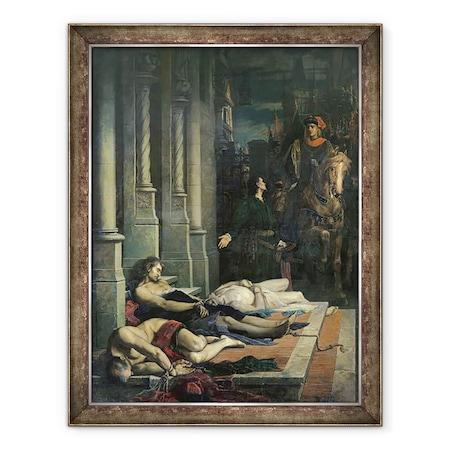 Benjamin Ulmann - Etienne Marcel teste c.1316-58 látható A francia Dauphin Charles 1338-80 számára, a jövőbeli V. Károly, Keretezett kép, 60 x 80 cm