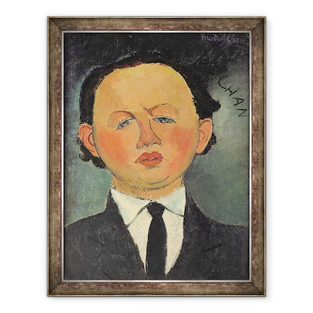Amedeo Modigliani - Oscar Miestchaninoff 1886-1956 1917, Keretezett kép, 60 x 80 cm