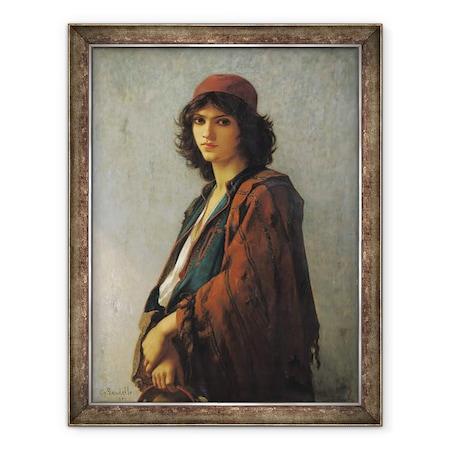 Charles Landelle - Fiatal cseh szerb, Keretezett kép, 60 x 80 cm