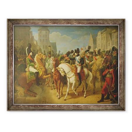 Jean Baptiste Debret - Bonaparte Napóleon 1769-1821 Lazareff gránátos díszítése Tilzsiben, Keretezett kép, 60 x 80 cm