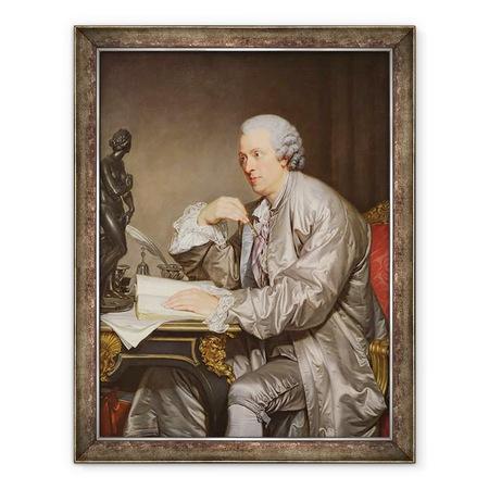 Jean Baptiste Greuze - Claude-Henri Watelet 1718-86 1763-65 portréja, Keretezett kép, 60 x 80 cm