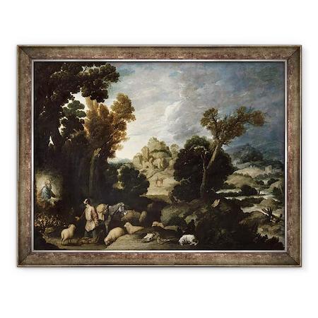 Francisco Collantes - Az égő bokor, Keretezett kép, 60 x 80 cm