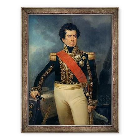 Eugene Charpentier - Victor-Guy portréja 1775-1846 Duperre báró, Keretezett kép, 60 x 80 cm