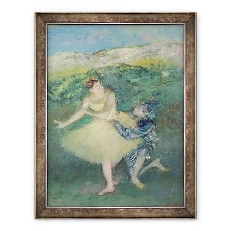 Edgar Degas - Harlekin és kolumbiai, Keretezett kép, 60 x 80 cm