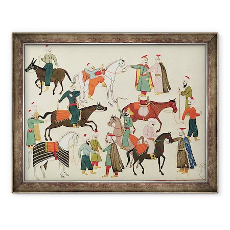 Iszlám Iskola - Ms 1671 A lópiac, Keretezett kép, 60 x 80 cm