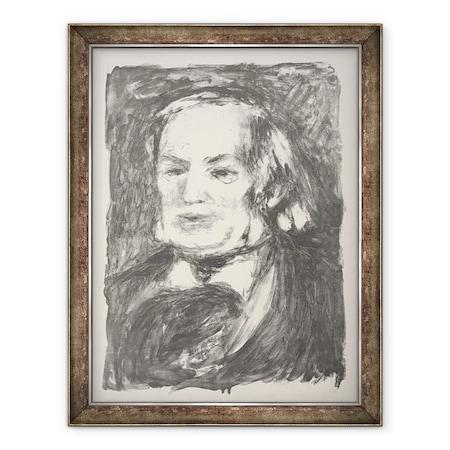 Tablou inramat - Pierre Auguste Renoir - Portretul lui Richard Wagner, 70 x 90 cm