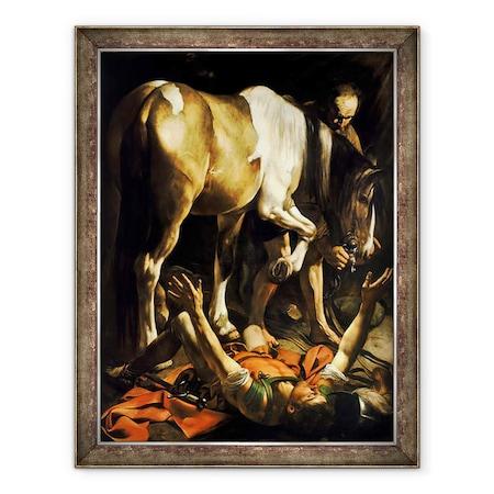 Michelangelo Merisi da Caravaggio - Szent Pál megtérése, Keretezett kép, 60 x 80 cm