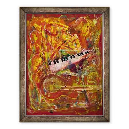 Ikahl Beckford - Szimfónia piros, Keretezett kép, 60 x 80 cm