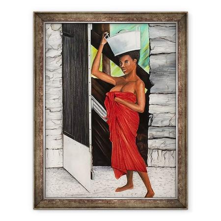 Ikahl Beckford - Pirossal terítve, Keretezett kép, 60 x 80 cm