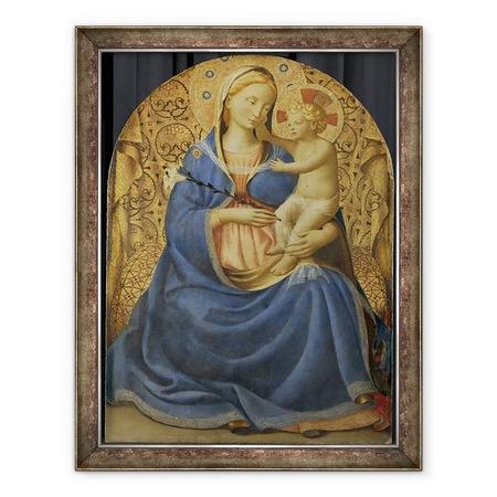 Fra Angelico - Az alázat Madonna, Keretezett kép, 60 x 80 cm