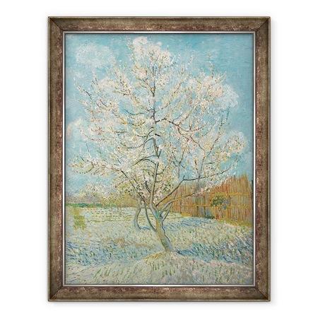 Vincent van Gogh - A rózsaszín őszibarackfa, Keretezett kép, 60 x 80 cm