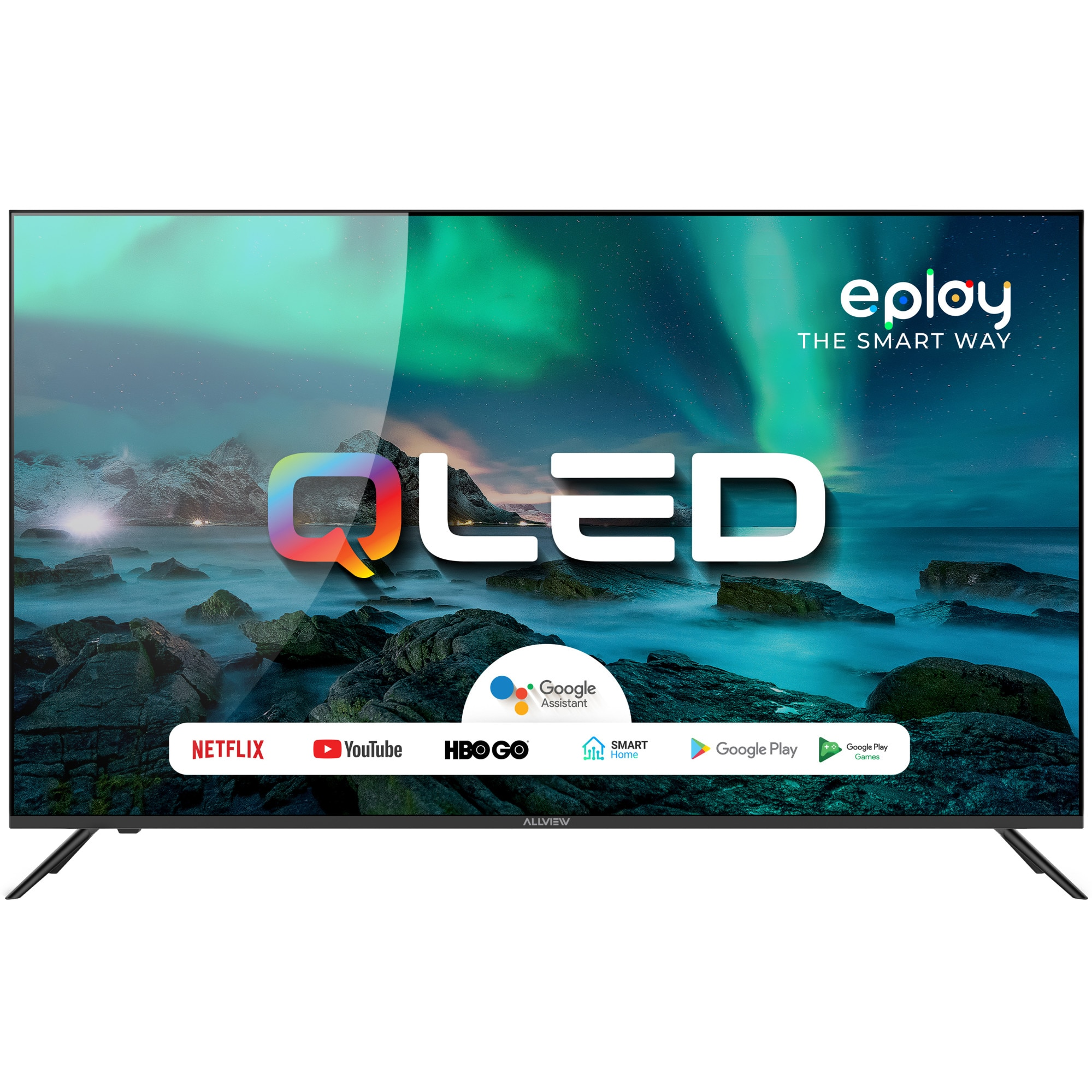 Fotografie Televizor Allview QL50Eplay6100-U, 126 cm, Smart, 4K Ultra HD, QLED, Clasa A