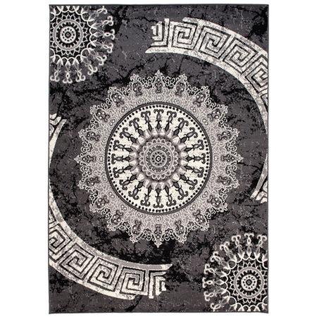 Mandala mintás sötét szürke szőnyeg 250*350