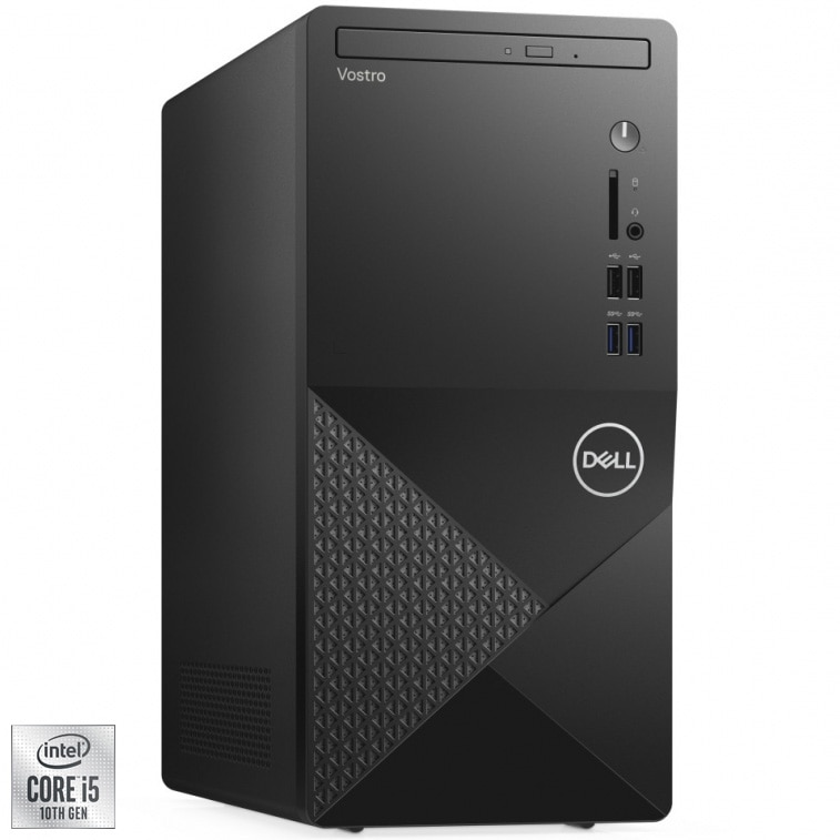 Fotografie Sistem Desktop PC Dell Vostro 3888 MT cu procesor Intel® Core™ i5-10400 pana la 4.30 GHz, Comet Lake, 8GB DDR4, 512GB SSD, Intel® UHD Graphics 630, Ubuntu