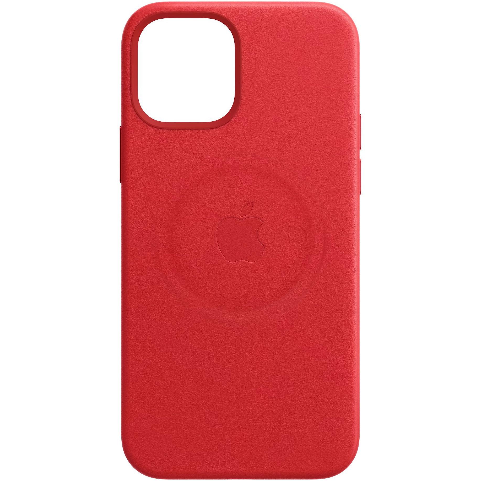Fotografie Husa de protectie Apple Leather Case MagSafe pentru iPhone 12/12 Pro, (PRODUCT)RED