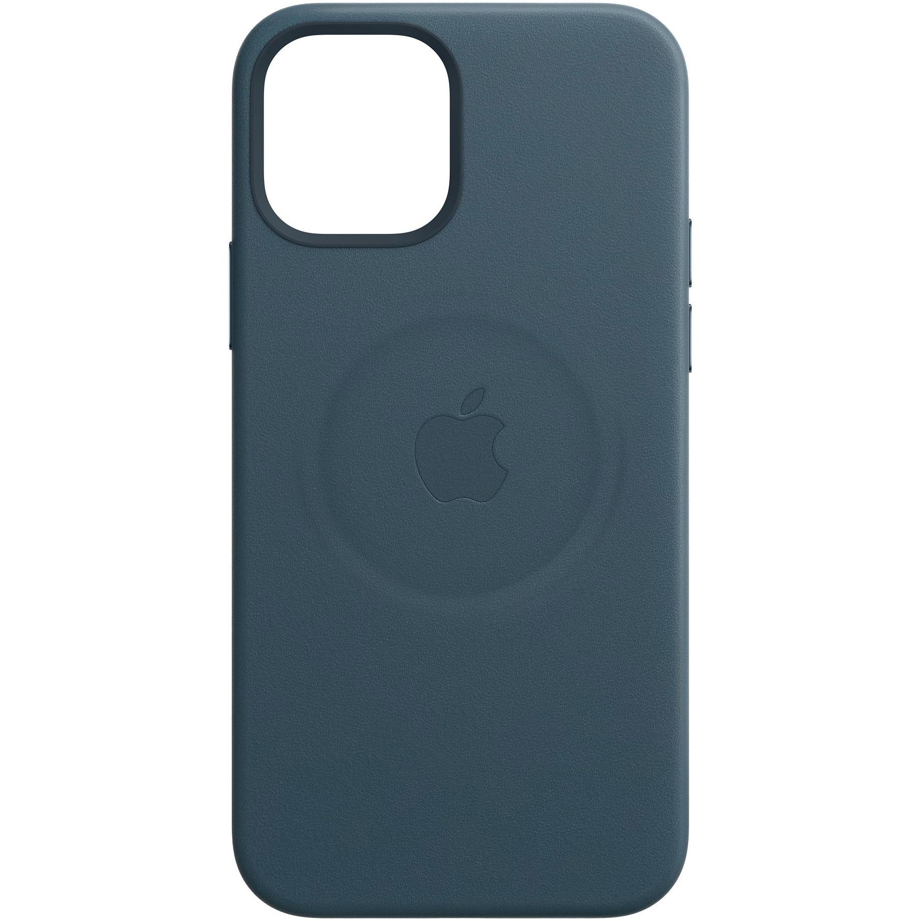 Fotografie Husa de protectie Apple Leather Case MagSafe pentru iPhone 12 Pro Max, Baltic Blue