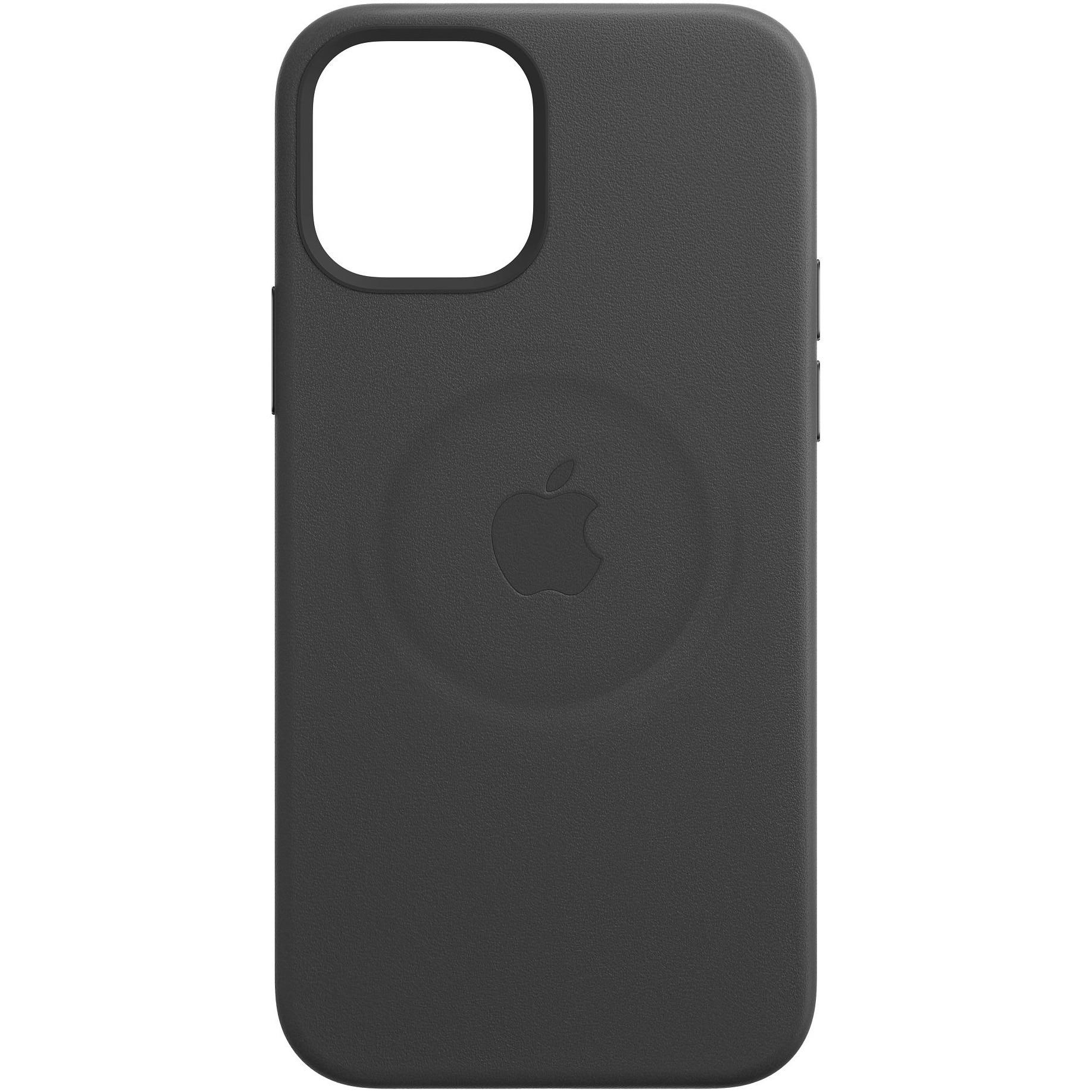 Fotografie Husa de protectie Apple Leather Case MagSafe pentru iPhone 12 Pro Max, Black