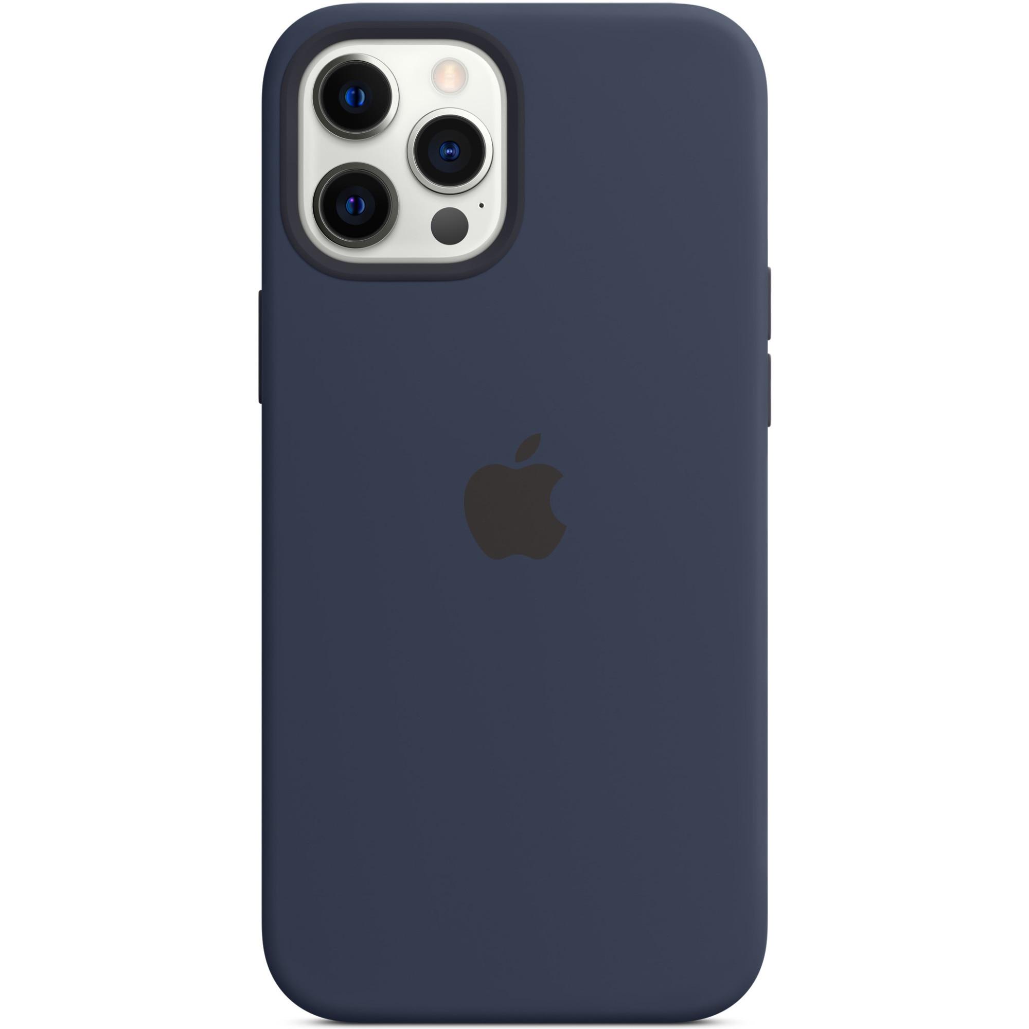 Fotografie Husa de protectie Apple Silicone Case MagSafe pentru iPhone 12 Pro Max, Deep Navy