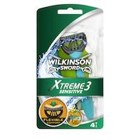 Wilkinson Xtreme3 Sensitive Borotva, 4 darab