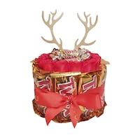 BoxEnjoy - TWIX desszert doboz- piros szappanrózsával