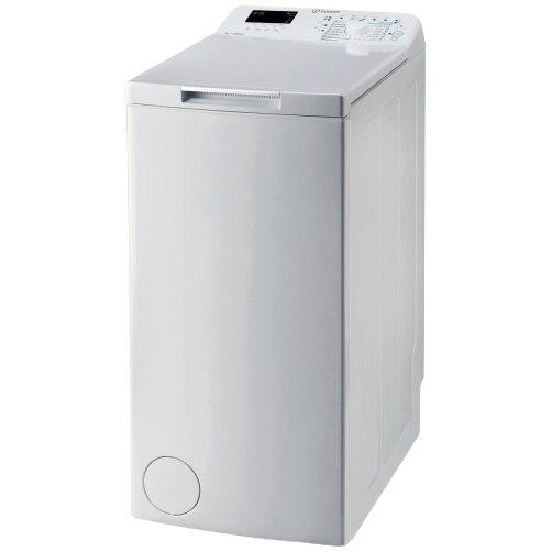 Fotografie Masina de spalat rufe cu incarcare verticala Indesit BTWS72200EU/N, 7 kg, 1200 rpm, Clasa E, Turn&Go, Display digital, Alb