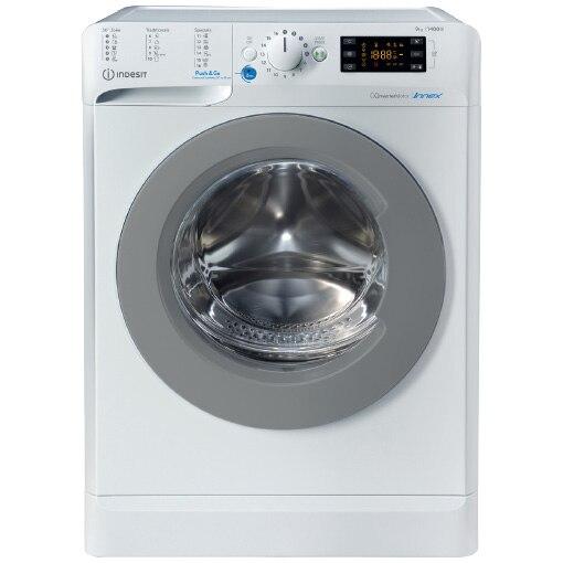 Fotografie Masina de spalat rufe Indesit BWE91484XWSEUN, 9kg, 1400 rpm, Clasa C, Push&Go, Motor Inverter, Display Digital, Alb
