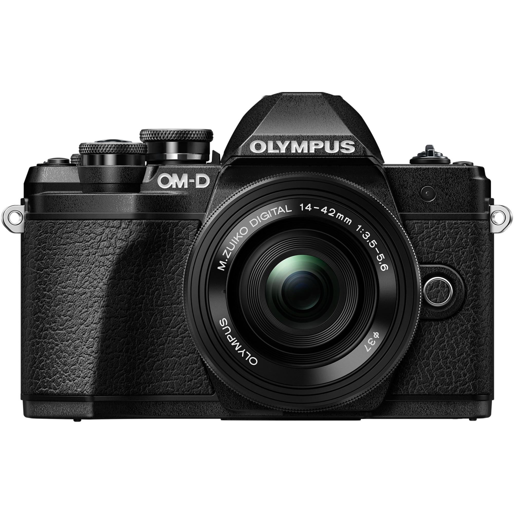 Fotografie Aparat foto Mirrorless Olympus E-M10 Mark III, 16MP, 4K, Negru + Obiectiv EZ-1442 Pancake, Negru