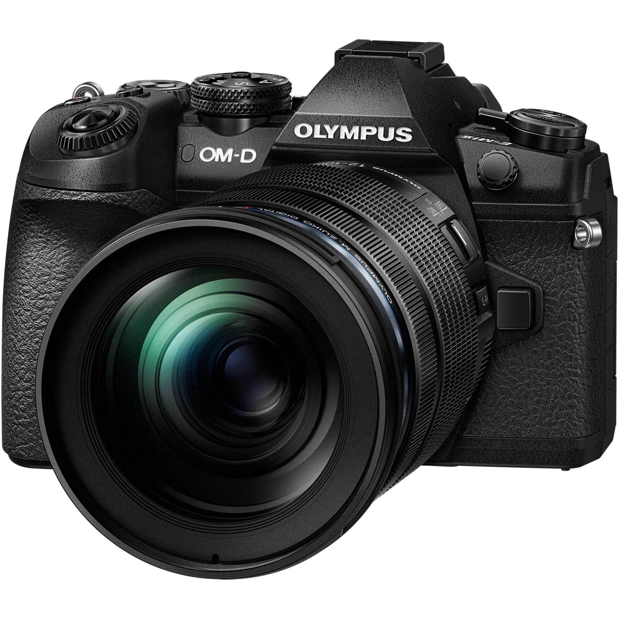 Fotografie Aparat foto Mirrorless Olympus E-M1 Mark II, 4K, Negru + Obiectiv 12-100mm F/4 PRO, Negru