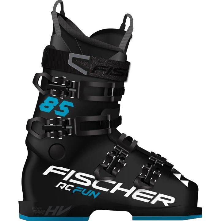 Fotografie Clapari ski Fischer RC Fun 85, Femei, Negru-Turcoaz, Negru/Turcoaz, 23.5