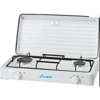 Luxpol K02S 2 zónás fehér hordozható gáz főzőlap