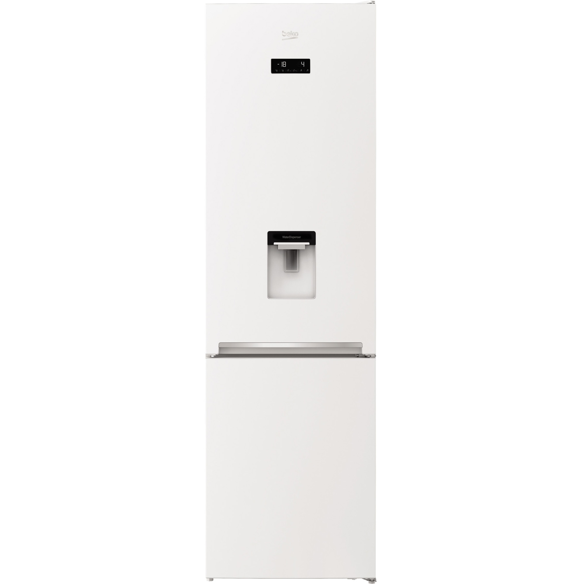 Fotografie Combina frigorifica Beko RCNA406E40DZWN, 362 l, NeoFrost Dual Cooling, Display touch control, Raft sticle, Clasa E, H 203 cm, Alb