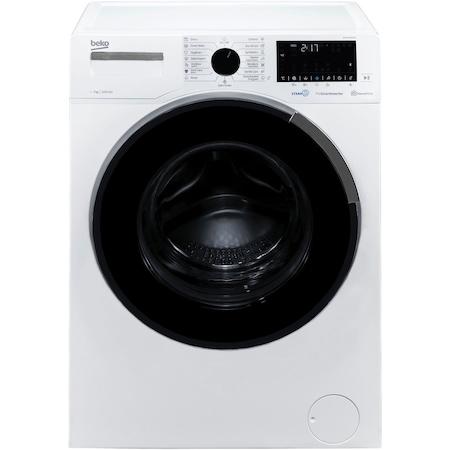 Пералня Slim Beko WUE 7646XCW, 7 кг, 1200 об/мин, Клас A+++, Мотор ProSmart Inverter, HomeWhiz, SteamCure, Hygiene+, Бял
