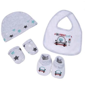 Бебешки комплект, За новородено, 4 части, Момче