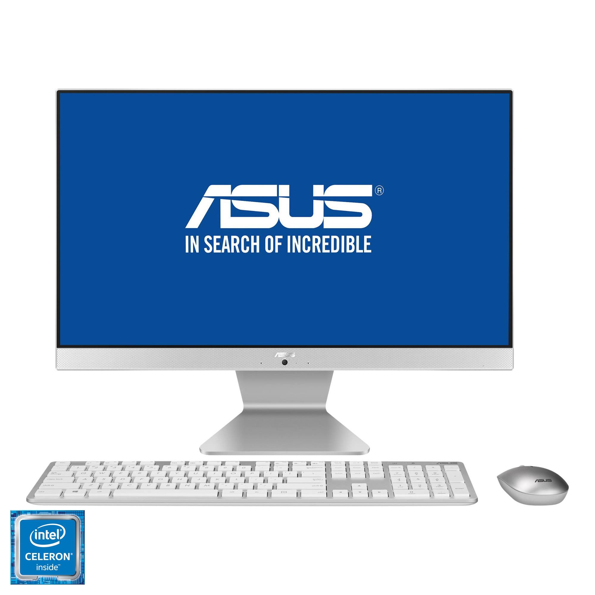 "Fotografie Sistem All-in-One ASUS V222GAK cu procesor Intel® Celeron® J4005 pana la 2.70GHz, 21.5"", Full HD, 4GB DDR4, 256GB SSD, Intel® UHD Graphics 600, Endless OS, White, Mouse + Tastatura"