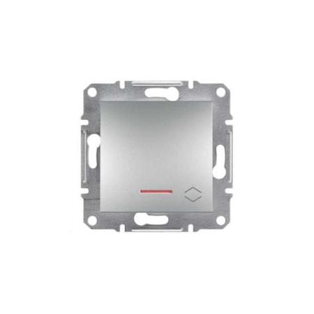 Schneider ASFORA Váltókapcsoló, jelzőfényes, rugós bekötés, alumínium, EPH1500161